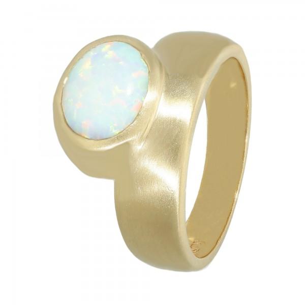 Ring 585 Gelbgold mit synthetischem Opal