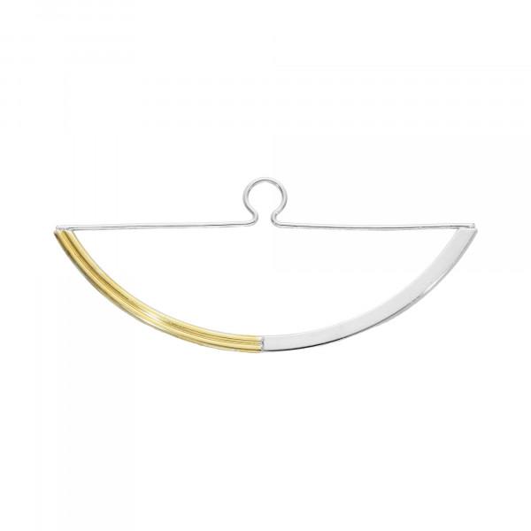Krawattenhalter 925 Silber bicolor
