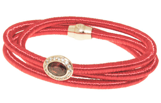 Kette Kupfer/Messing rot mit Zirkonia