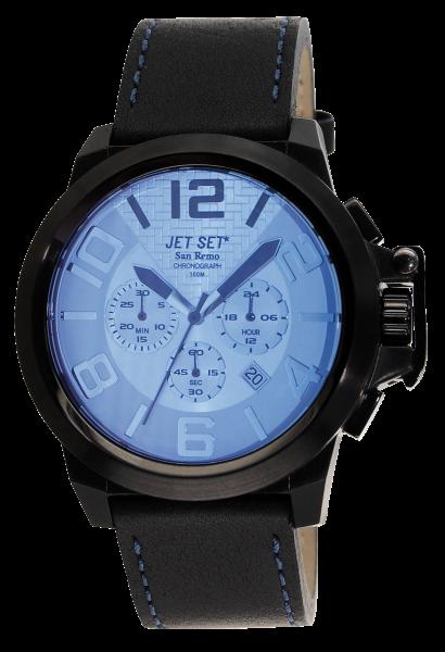 "Armbanduhr ""Jet Set"" San Remo blau / schwarz J6190B -367"
