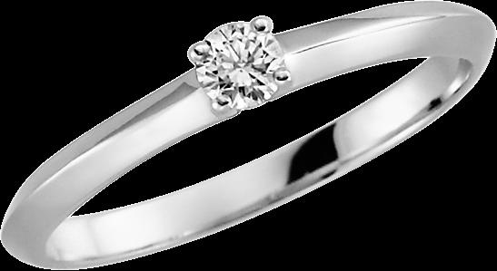 Rubin Solitär-Ring Silber 925 mit 1 Brillant 0,08 ct. w-si