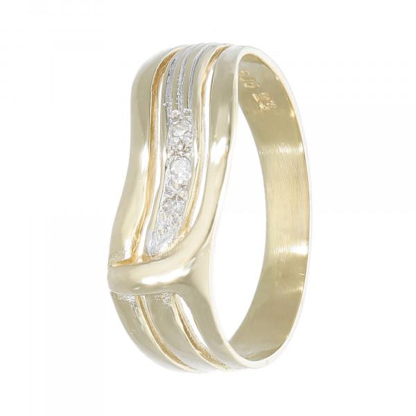 Ring 585 bicolor mit Brillanten