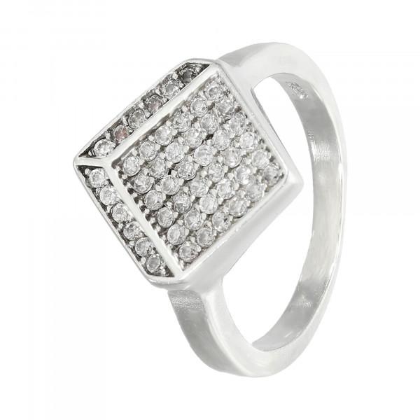 Ring 925 Silber mit facettierten Kristallen