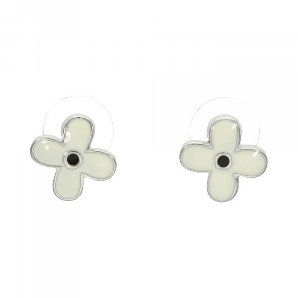Ohrstecker mit Emaille schwarz/weiß