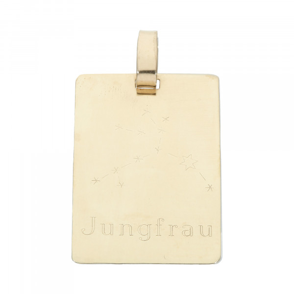 "Anhänger 333 Gelbgold ""Jungfrau"""