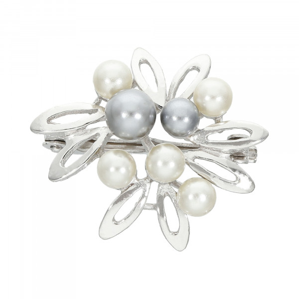 Anhänger/Clip Silber 925 für Perlenketten mit Perlenbesatz