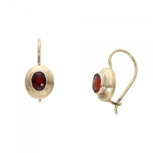 Ohrhänger 14 Karat mit Granat