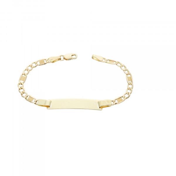 ID Armband 585 Gelbgold 14 cm
