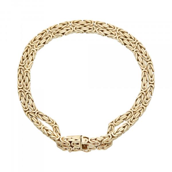 Armband 14 Karat Gelbgold 2 reihig 19,5 cm