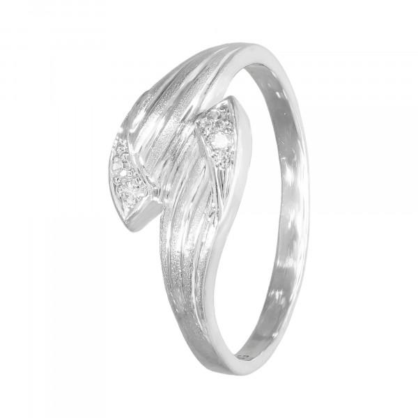 Ring 585 Weißgold mit Brillanten