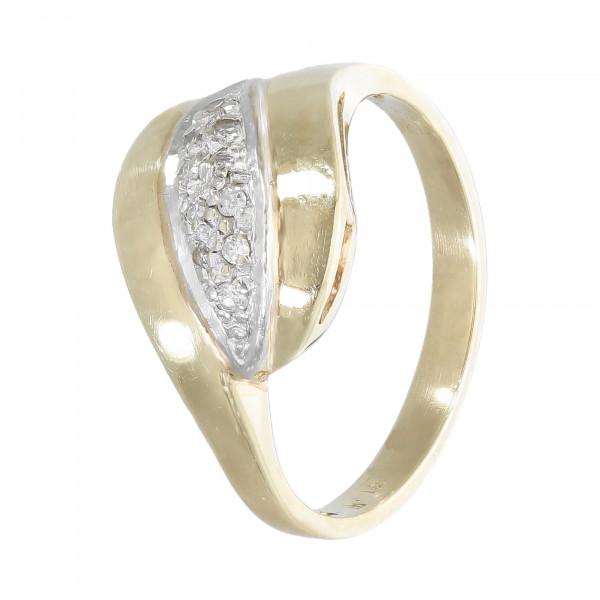 Ring 585 bicolor mit Brillant 0,10 ct.