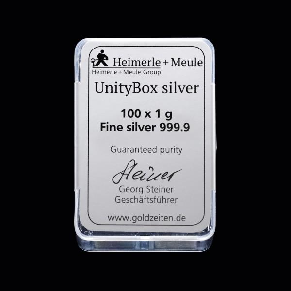 UnityBox 100 x 1 Gramm Silber