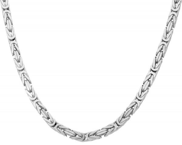Kette Silber 925 Königsmuster eckig Länge: 60 cm