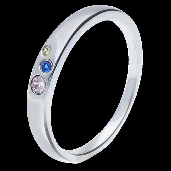 Ring 925 bunte Steine