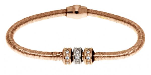 Armband Kupfer/Messing bronze mit Zirkonia