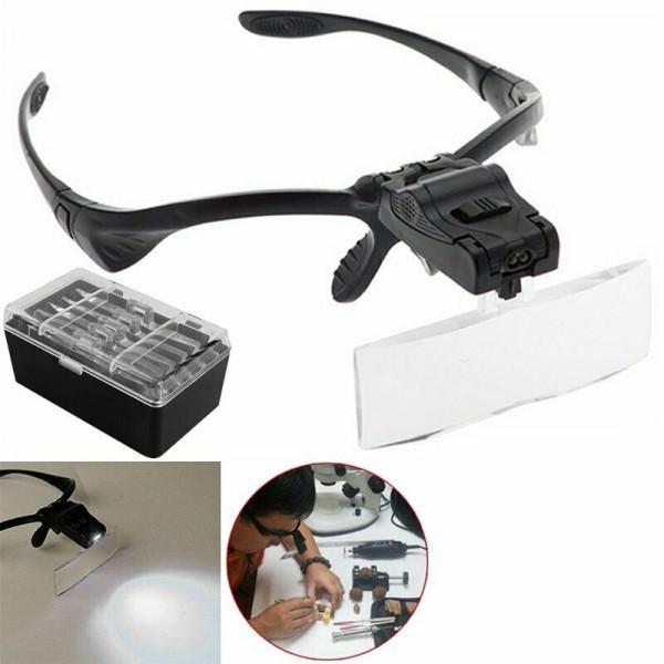 Kopflupe mit LED Licht und 5 Aufsätzen
