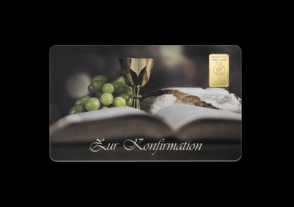 FineCard Konfirmation 1 x 1 Gramm Goldbarren