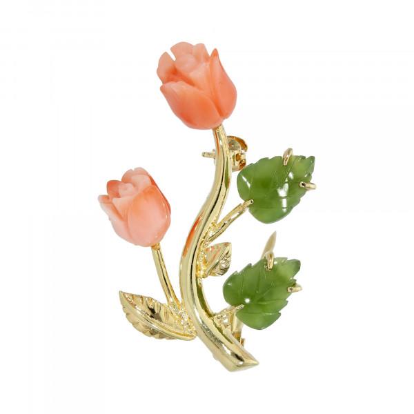 """Brosche 925 Silber vergoldet """"Rosen"""""""