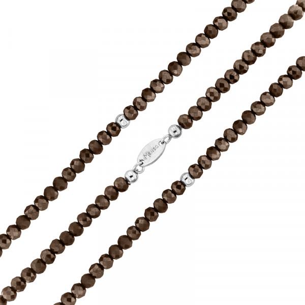 Armband flexibel aus geschliffenen Kristallen braun
