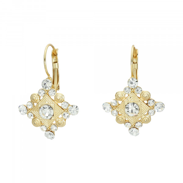 Ohrhänger mit Kristallen vergoldet