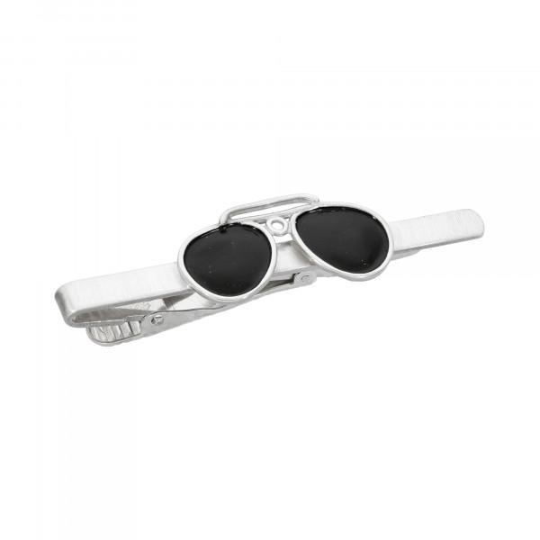 """Krawattenklammer 925 Silber """"Sonnenbrille"""""""