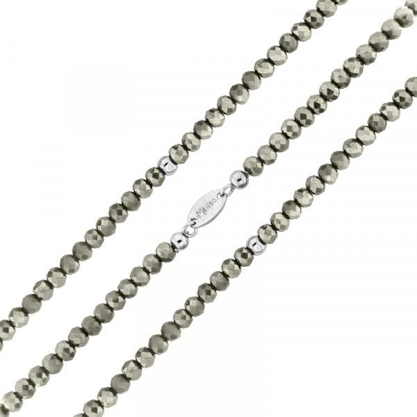 Armband flexibel aus geschliffenen Kristallen grau