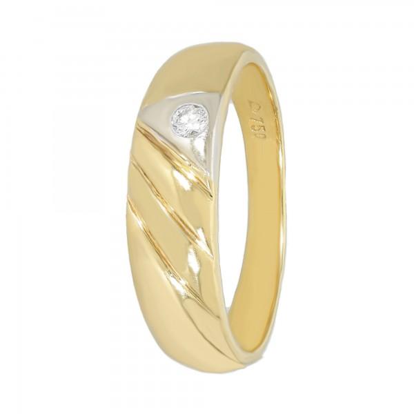 Ring 750 bicolor mit 1 Diamant