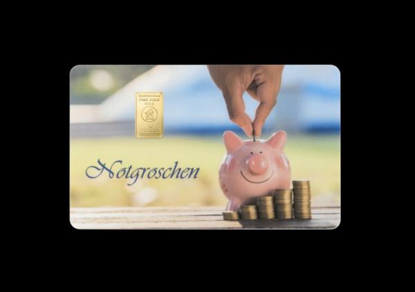 FineCard Notgroschen 1 x 1 Gramm Goldbarren