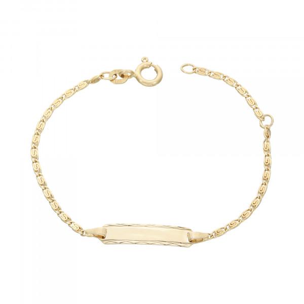 ID Armband 585 Gelbgold 11,5 cm bis 13,5 cm