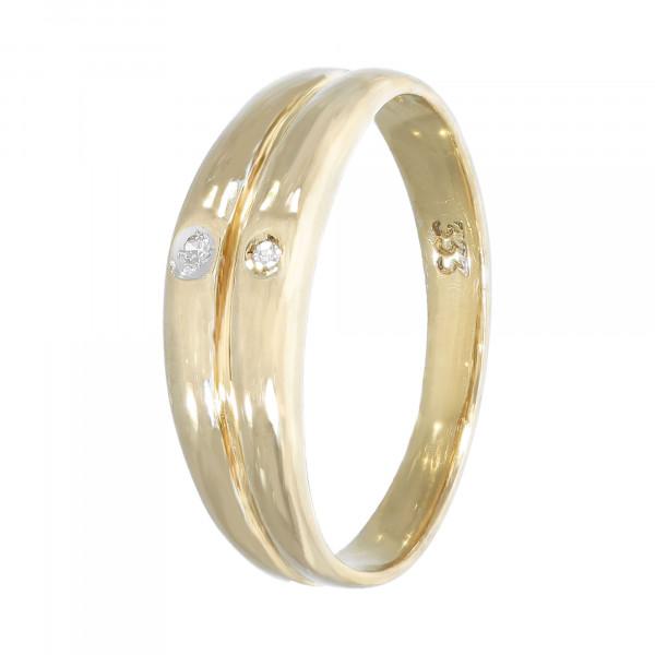 Ring 333 Gelbgold mit Brillanten ca. 0,02ct