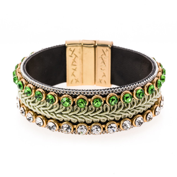 Armband Bordüre grün/gold