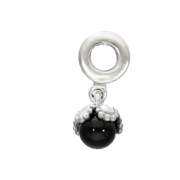 Anhänger/Charm Silber 925 mit Onyx