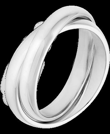 Trauring Silber 925 2-teilig Gr. 64