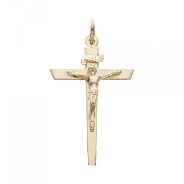 """Anhänger 333 Gelbgold """"Kreuz mit Jesus"""""""