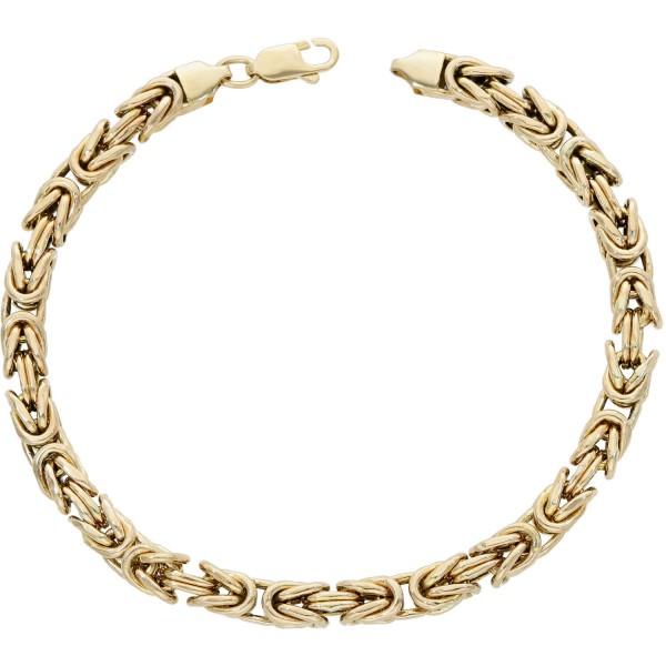 Armband Gelbgold 585 Königsmuster Länge: 22 cm