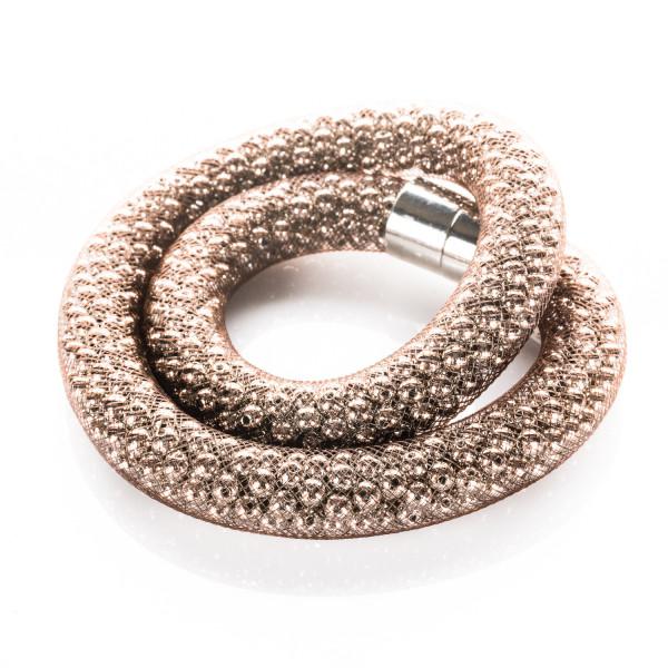 Collier mit Magnetverschluss braun silber