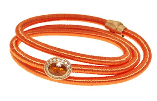 Kette Kupfer/Messing orange mit Zirkonia