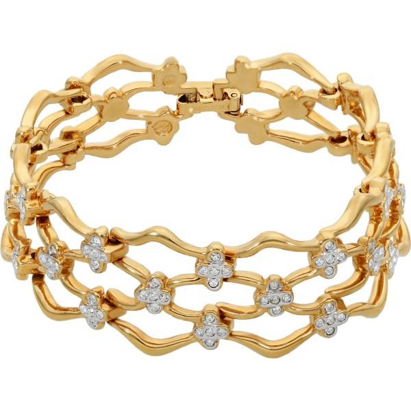 Armband vergoldet Swarovski mit Kristallen Wabenmuster