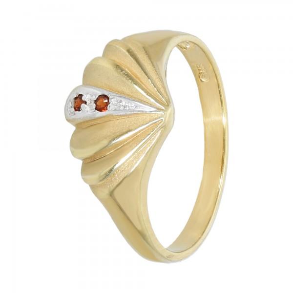 Ring bicolor 333 mit Granat
