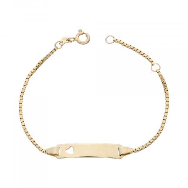 ID Armband 333 Gelbgold 14,5 cm bis 16,5 cm
