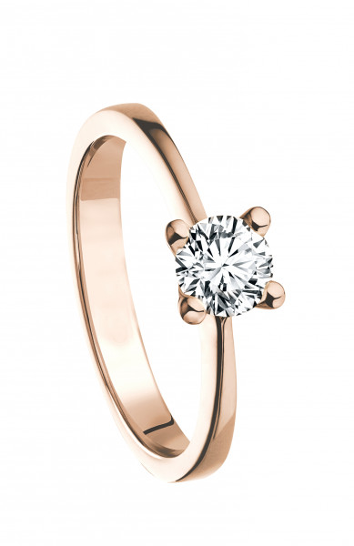 Ring 585 Roségold mit 1 Brillant 0,15 ct.W-SI
