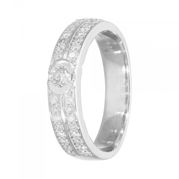 Ring 375 Weißgold mit Brillanten ca.0,50 ct.