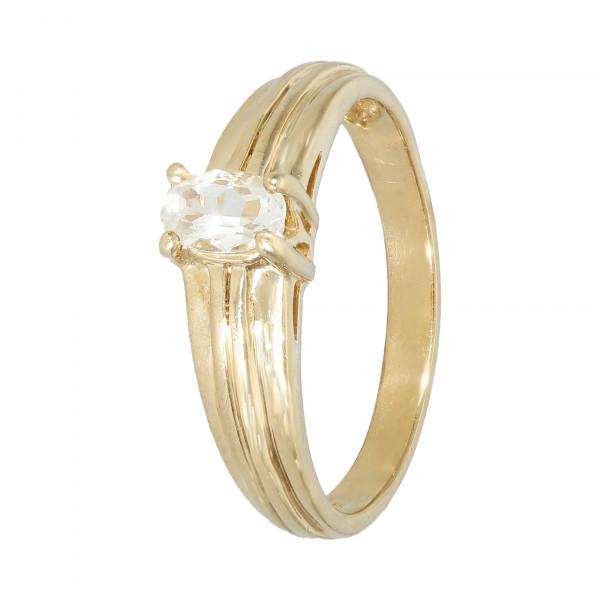 Ring 375 Gelbgold mit Bergkristall