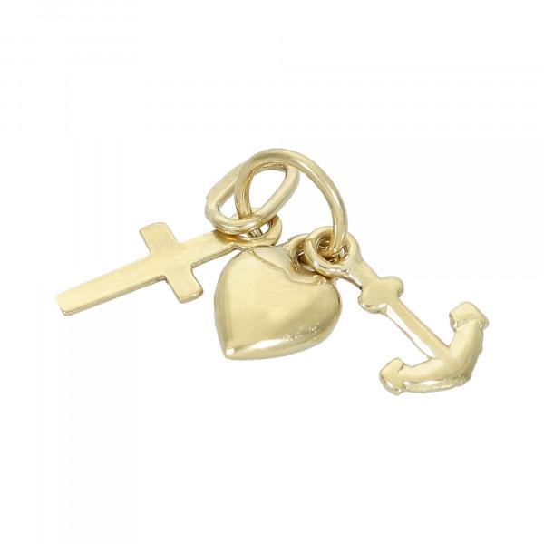 Anhänger 585 Gelbgold Liebe, Glaube, Hoffnung