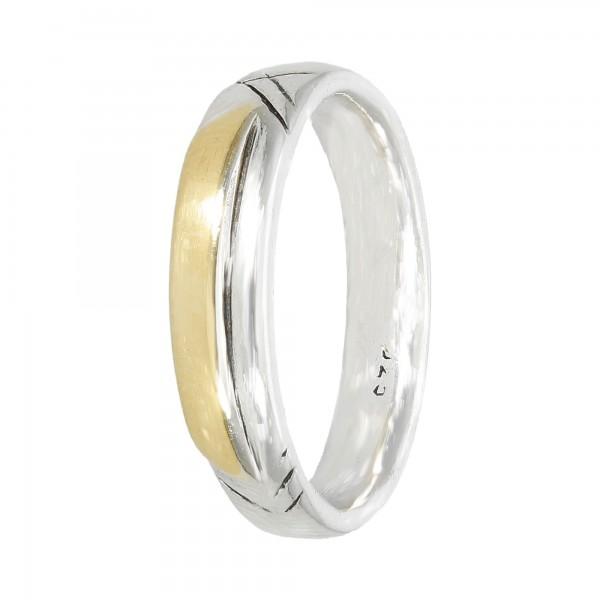 Bandring Silber/Gold 925/21,6 K.