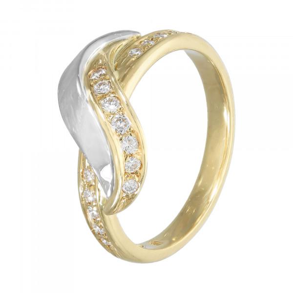 Ring 750 bicolor mit Brillanten ca.0,20ct.
