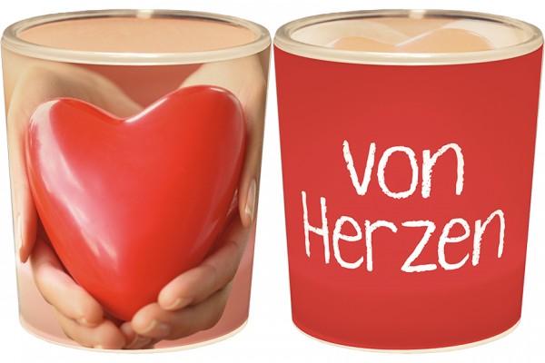"""Teelichthalter """"von Herzen"""""""