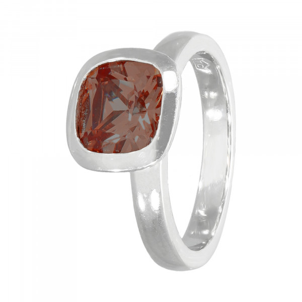 Ring Silber 925 mit Kristall braun