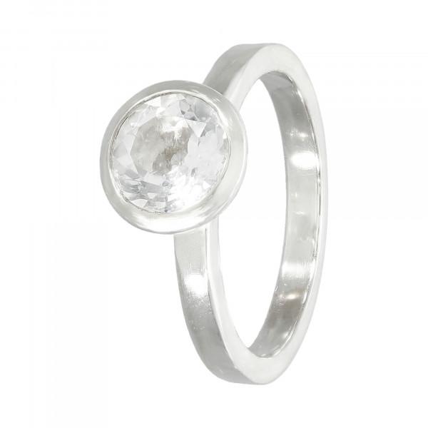 Ring 925 Silber mit White Topas