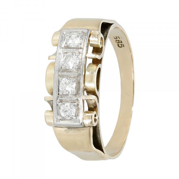 Ring 585 Gelbgold mit 4 Brillanten